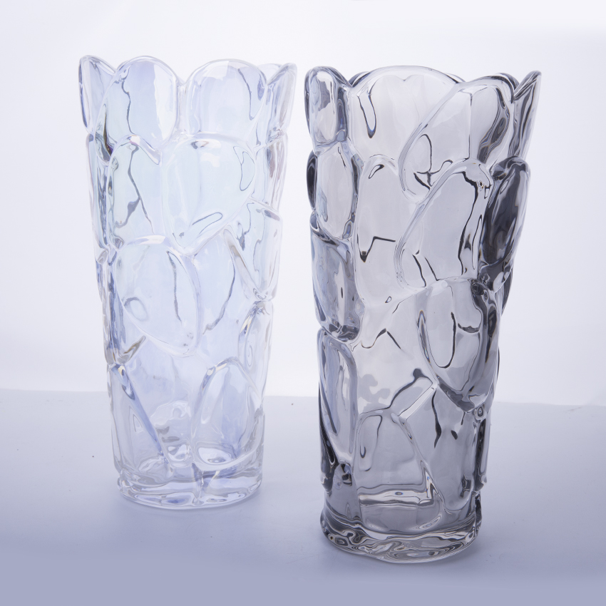 Floor And Table Top Flower Vase Heavy Glass Vase Wholesale Multi
