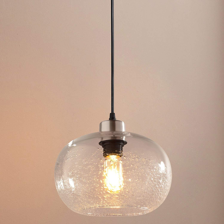 Pendant Lighting Handblown Seeded Glass Drop Ceiling